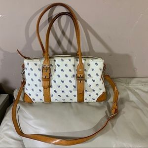 Dooney & Bourke White Leather Domed Satchel Bag